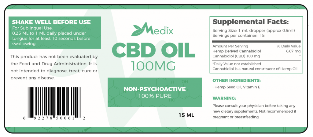 Medix CBD Oil 100mg